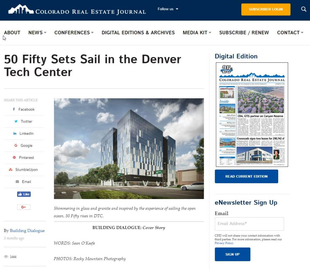 2018-12-10 12_12_07-50 Fifty Sets Sail in the Denver Tech Center - Colorado Real Estate Journal