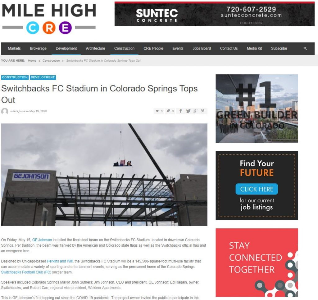 05-19-20 Switchbacks FC Stadium-Mile High CRE